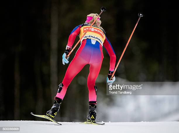 Therese Johaug of Norway during FIS Cross Country Skiathlon at Birkebeineren Stadion on December 05 2015 in Lillehammer Norway