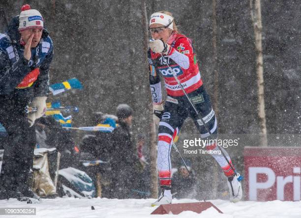 Therese Johaug of Norway during FIS WC Ladies 4 x 50 km Relay Classic Free on January 27 2019 in Ulricehamn Sweden