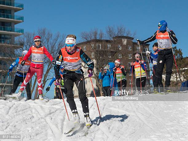 Therese Johaug of Norway during training Cross Country Sprint on February 29 2016 in GatineauQuebecCanada