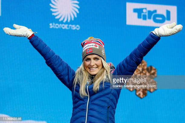 Therese Johaug of Norway takes 1st place during the FIS Nordic World Ski Championships Men's and Women's Cross Country Skiathlon on February 23, 2019...