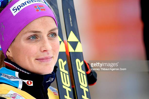 Therese Johaug of Norway takes 1st place during the FIS Nordic World Cup Men's and Women's Cross Country Skiathlon on December 05 2015 in Lillehammer...