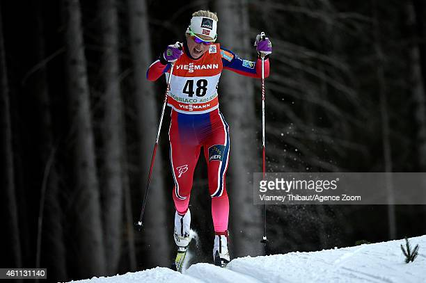 Therese Johaug of Norway takes 2nd place during the FIS CrossCountry World Cup Men's and Women's Classic on January 07 2015 in Toblach Italy