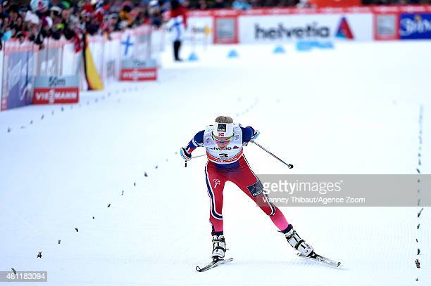 Therese Johaug of Norway takes 3rd place during the FIS CrossCountry World Cup Men's and Women's Pursuit on January 08 2015 in Toblach Italy