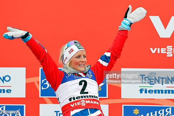 Therese Johaug of Norway takes the silver medal during the FIS Nordic World Ski Championships Women's Cross Country Skiathlon on February 23 2013 in...