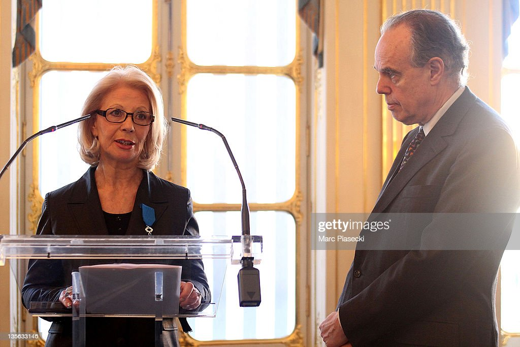 Personnalities Honored At French Ministry Of Culture : News Photo