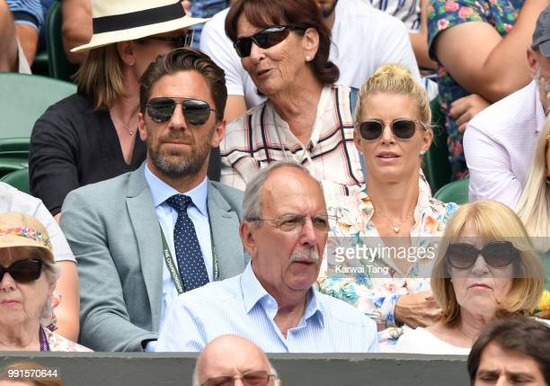 Therese Lundqvist and Henrik Lundqvist attend day three of the Wimbledon Tennis Championships at the All England Lawn Tennis and Croquet Club on July...