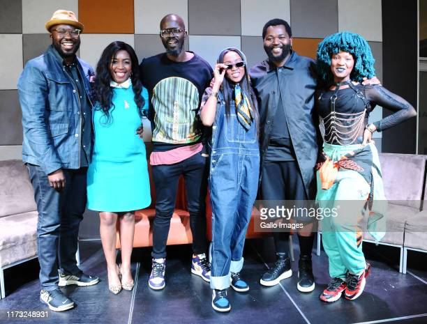Theresho Selesho Lulu Dj Black Coffee Nomuzi Mabena Sjava Moonchild sanelly during the Music Is King media launch held at the Universal Studios on...