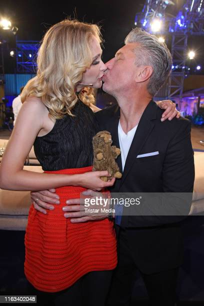 Theresia Fischer and her husband Thomas Behrend attend the Promi Big Brother final at MMC Studios on August 23 2019 in Cologne Germany