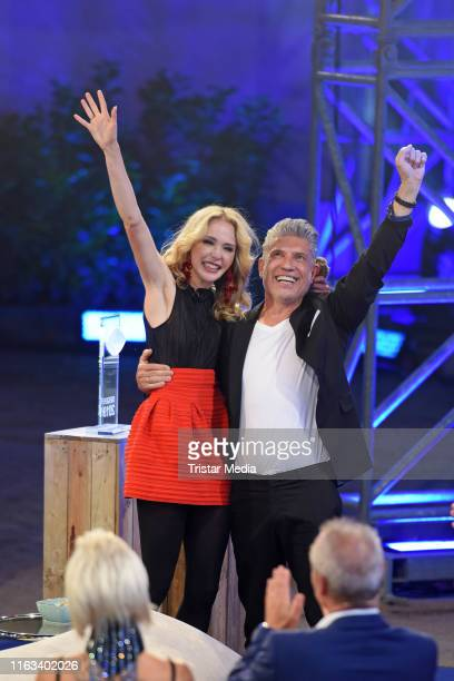 Theresia Fischer and her husband Thomas Behrend during the Promi Big Brother final at MMC Studios on August 23 2019 in Cologne Germany