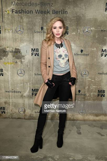 Theresia Fischer attends the Irene Luft show during Berlin Fashion Week Autumn/Winter 2020 at Kraftwerk Mitte on January 14 2020 in Berlin Germany