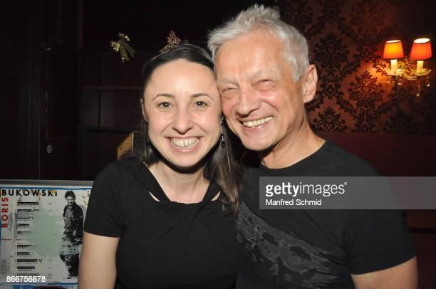 Thereza Krautgartner and Boris Bukowski presents his new album 'Gibt's ein Leben vor dem Tod' at Cafe Jenseits on October 19 2017 in Vienna Austria