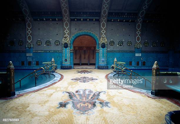 Thermal baths at Hotel Gellert 19161918 Art Nouveau style Budapest Hungary