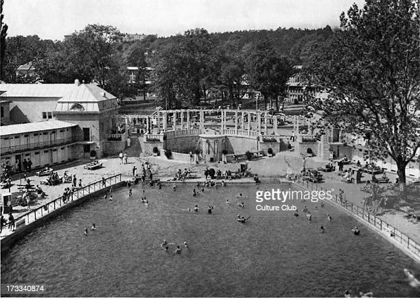Thermal baths Bad Vöslau Austria 1920s Spa town in Lower Austria 35 km south of Vienna