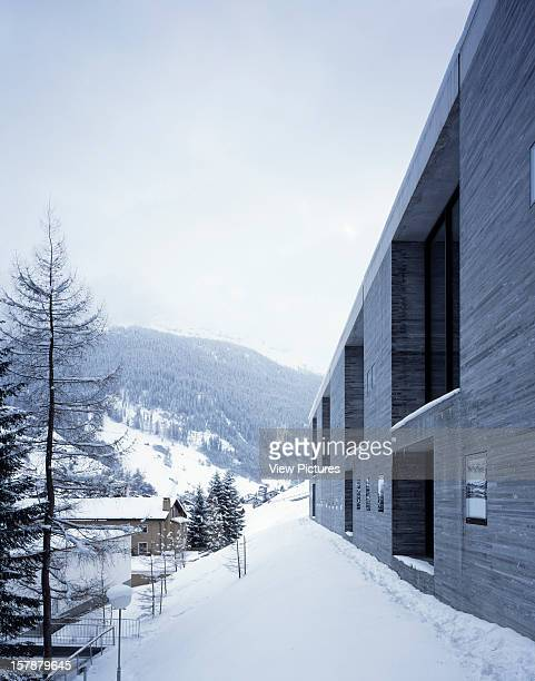 Thermal Baths Vals Switzerland Architect Peter Zumthor Thermal Baths View Of Exterior