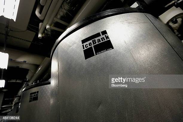 Thermal energy storage or ice tanks part of the heating and cooling system sit inside the Goldman Sachs Tower located at 200 West Street in New York...