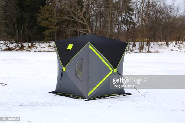 Thermal Ice Shelter on the frozen Lake