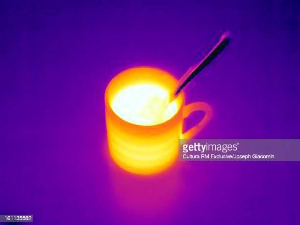 Thermal image of coffee pot