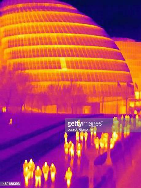Thermal image of London City Hall, London, England