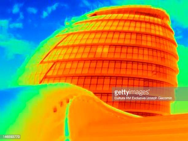 Thermal image of London City Hall