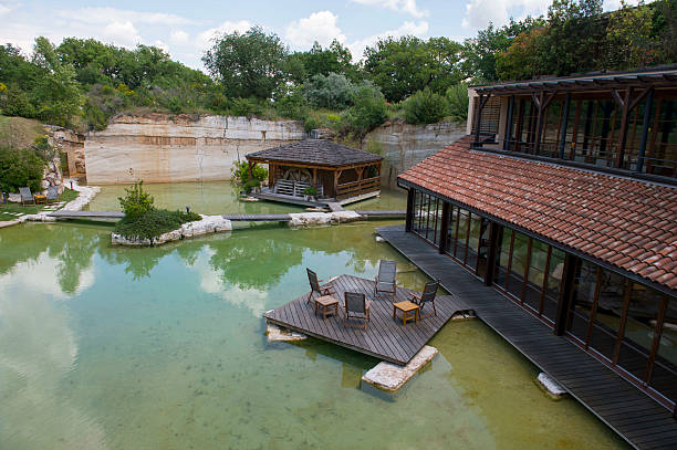 Thermal pool at adler thermae spa relax resort in bagno pictures getty images - Adler bagno vignoni ...