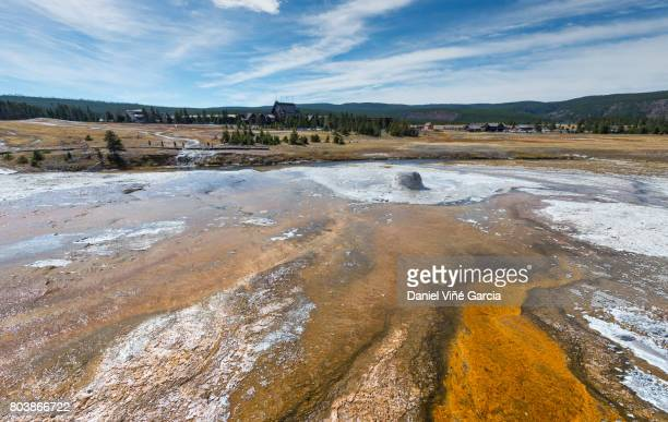 Thermal pool, Midway Geyser Basin, Yellowstone National Park, Teton County, Wyoming.