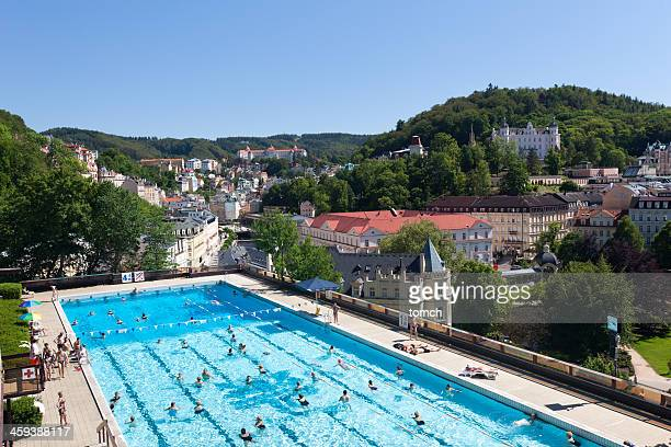 thermal pool - karlovy vary stock pictures, royalty-free photos & images