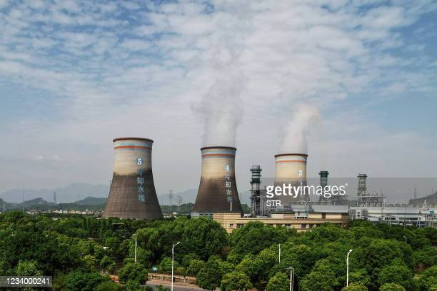 Thermal power plant is seen in Hangzhou, in China's eastern Zhejiang province on July 16, 2021. - China OUT / China OUT