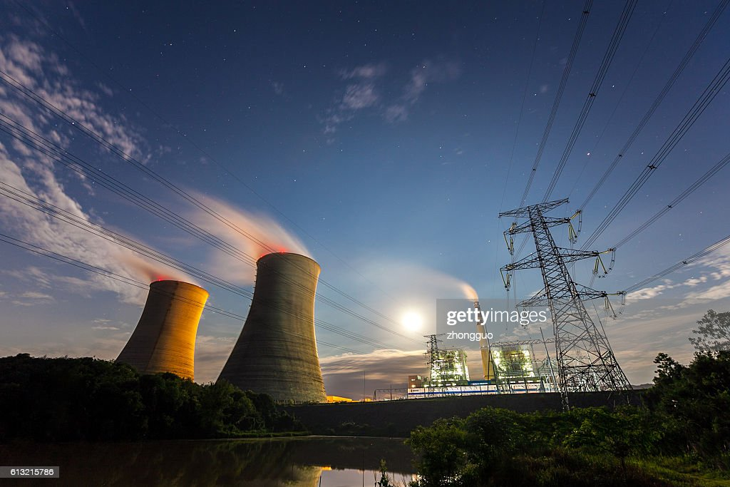 Thermal power plant : Stock Photo