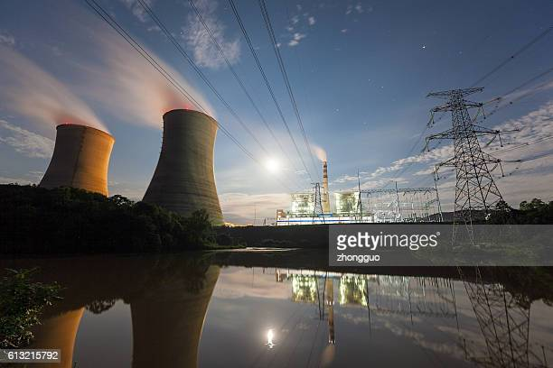 thermal power plant - nuclear power station stock pictures, royalty-free photos & images