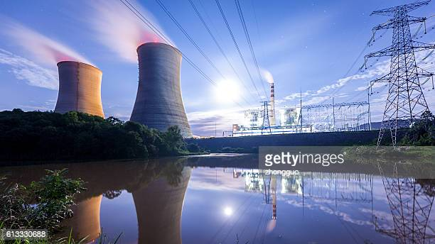 thermal power plant - atomic imagery bildbanksfoton och bilder