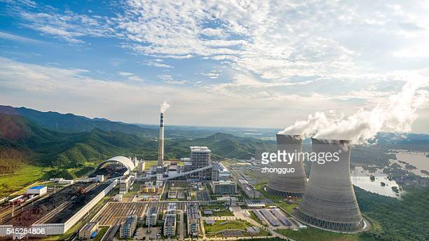 thermal power plants, china jiangxi - energia geotermica fotografías e imágenes de stock