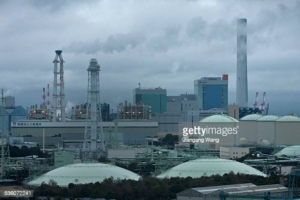 Thermal power plants in Isogo ward of Yokohama.
