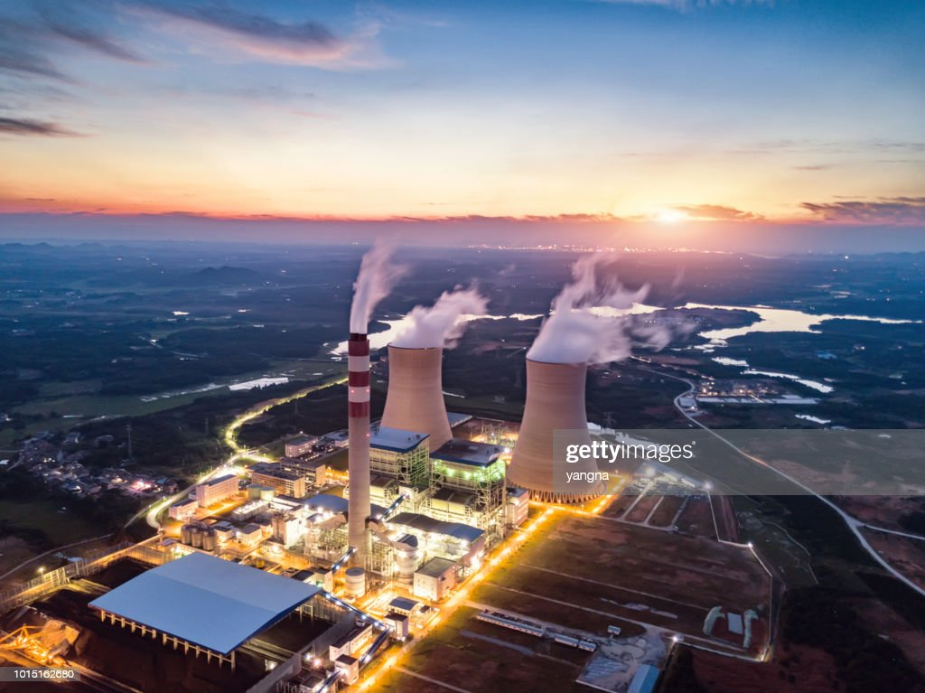 Thermal power station : Stock Photo