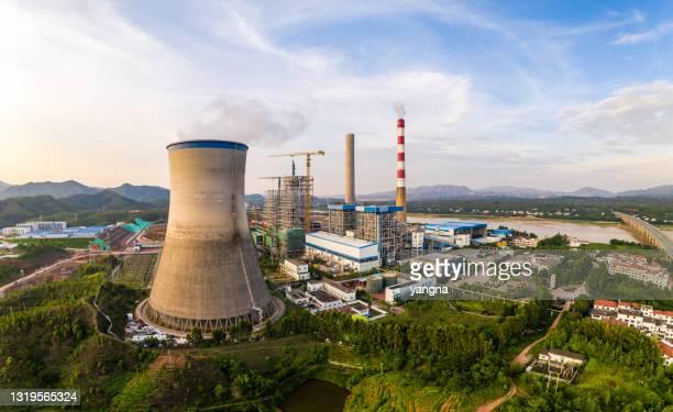 火力発電所 - 火力発電所 ストックフォトと画像