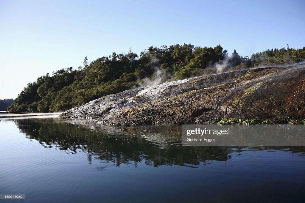 Thermal terraces, Orakei Korako,The Hidden Valley : Foto de stock