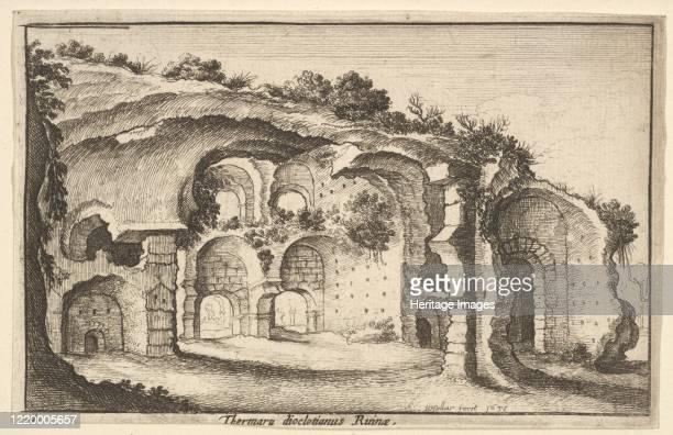 Thermaru diocletiani Ruinae 1651 Artist Wenceslaus Hollar