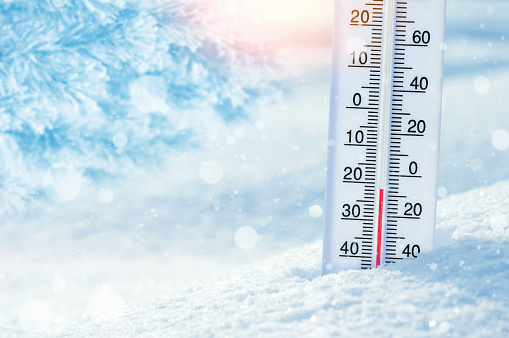 Thermometer in the snow 1067764520
