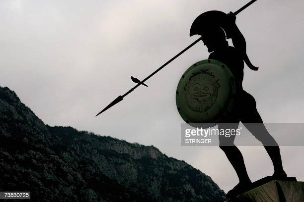 The statue of King Leonidas of ancient Sparta stands over the battlefield of Thermopylae some 170 kilometres north of Athens in central Greece at...