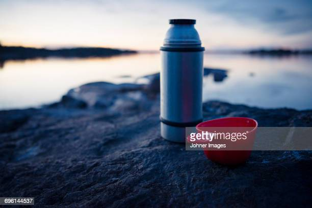 thermos and cup - flask stock pictures, royalty-free photos & images