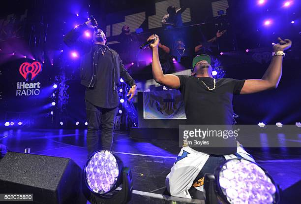 Theron Thomas and Timothy Thomas of R. City perform onstage during 93.3 FLZ's Jingle Ball 2015 Presented by Capital One at Amalie Arena on December...