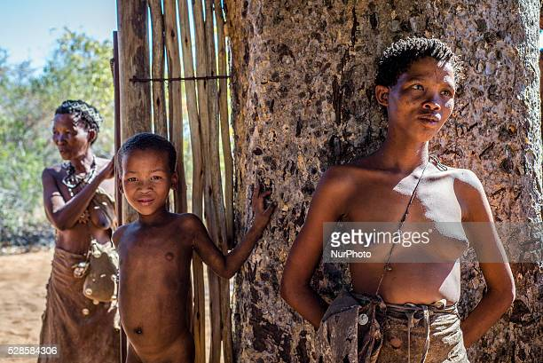 The��San��people from Grashoek in the Living Museum of the JuHoansiSan Grashoek Namibia