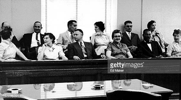 GOODS These 12 men and women will decide the guilt or innocence of Denver attorney Wendell A Peters Back row from left Leo O Townley Edward J...