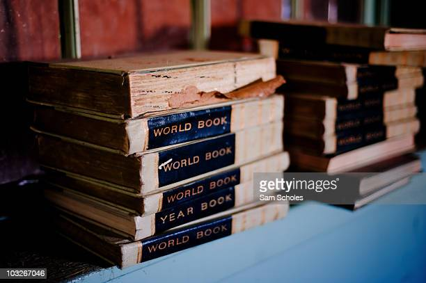 These 1964 edition World Book Encyclopedias were found inside of an abandoned school in Brigham City Utah