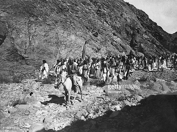 3/13/1928 These are representatives of the fighting Arab soldiers of King Ibn Saud of Hedjaz who has recently started a holy war against the British...