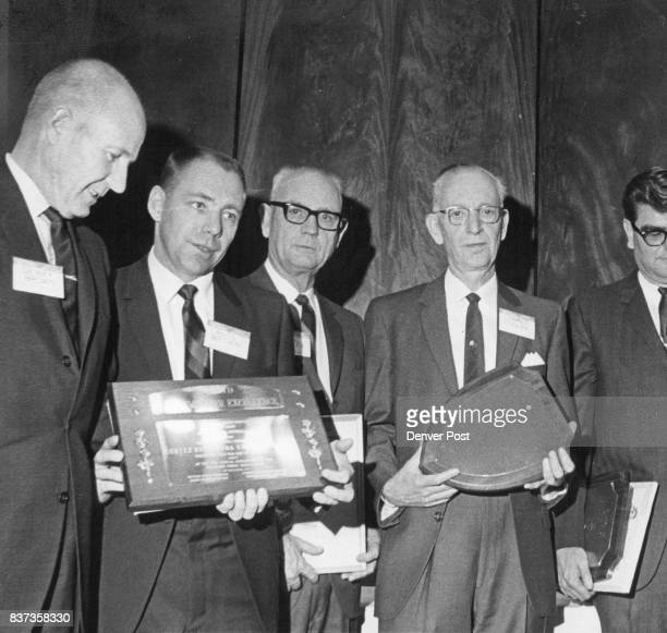 These Are representatives of Weekly Newspapers which won sweepstakes awards From left Dewey Brown and Russ Brown Cortez Montezuma Valley Journal Dale...