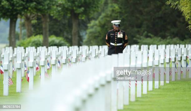 'These are some of our Marines buried here' said US Marine Sergeant Major Darrell Carver of the 6th Marine Regiment as he walks among the graves of...