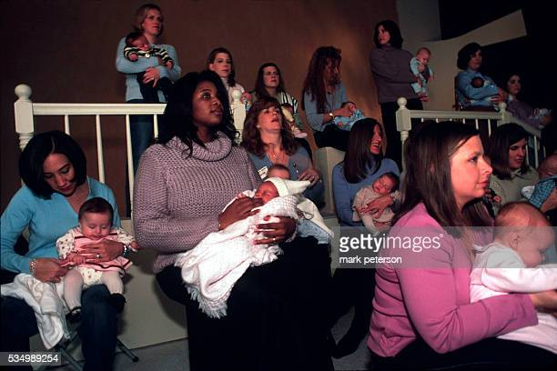 These are some of the new mothers widowed after the 9/11 terrorist attacks Thirtyone of the women pregnant at the time of their husbands' deaths...