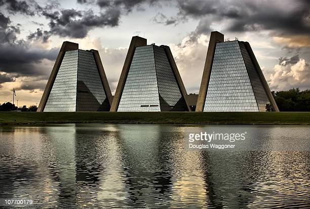 These are 'The Pyramids' located in College Park on the northwest side of Indianapolis Indiana These buildings occupy approximately 45 acres and they...
