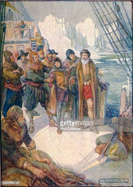 These Cruel Men Meant To Turn Hudson Adrift On The Icy Waters' from 'Our Empire Story' by HE Marshall c1920 Henry Hudson English Sea Explorer and...