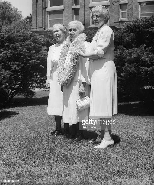 These distinguished alumnae will take part in commencement exercises at Vassar College Left to right they are Helen Bishop class of 1897 now a...